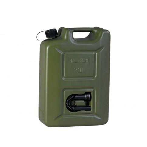 Canistra din plastic, pentru combustibil, Hunersdorff, 20 L + palnie