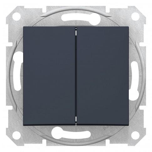 Intrerupator dublu Schneider Electric Sedna SDN0300170, incastrat, grafit