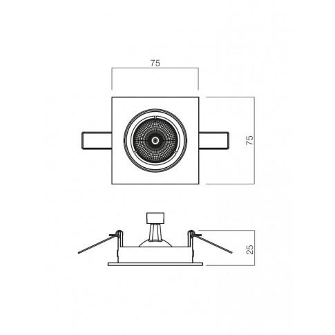 Spot incastrat MT 122 70331, GU10, nichel mat
