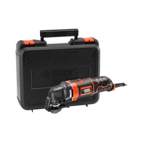 Unealta multifunctionala oscilanta, Black&Decker MT300KA, 300 W + accesorii si geanta depozitare