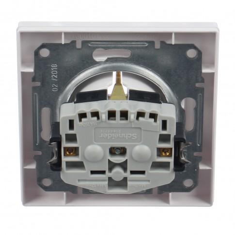 Priza simpla Schneider Electric Asfora EPH2900221, incastrata, rama inclusa, contact de protectie, alba