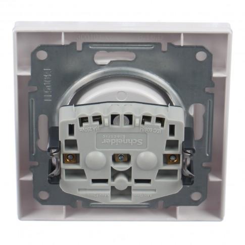 Priza simpla Schneider Electric Asfora EPH3000121, incastrata, rama inclusa, alba