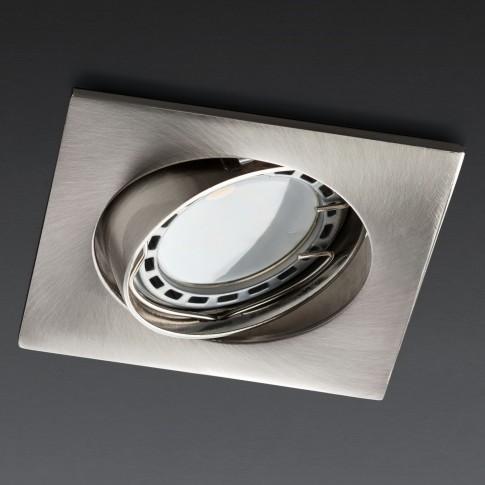 Spot incastrat MT 123 70338, GU10, orientabil, nichel mat