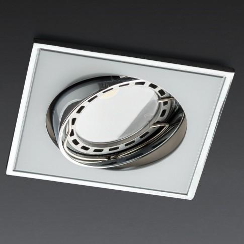 Spot incastrat MT 123 70339, GU10, orientabil, perla crom / crom