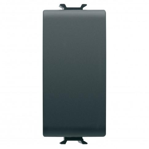 Intrerupator cap scara simplu Gewiss Chorus GW12051, incastrat, modular - 1, 16A, negru