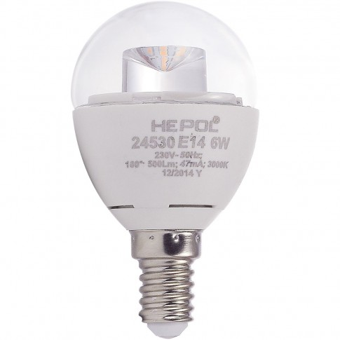Bec LED Hepol mini E14 6W 500lm lumina calda 3000 K