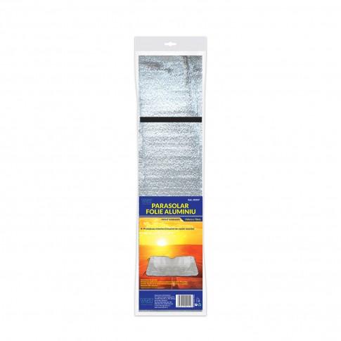 Parasolar auto, pentru parbriz, VGT, folie de aluminiu, 150 x 70 cm