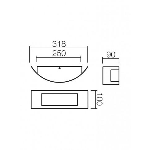 Aplica exterior Linea 9356, 1 x E27