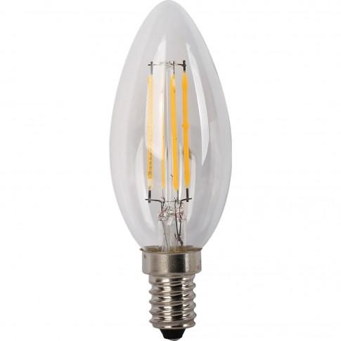 Bec LED filament Hoff lumanare E14 4W 400lm lumina calda 2700 K