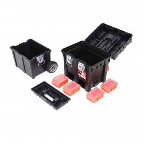 Cutie pentru scule cu roti, Patrol HD Compact, 495 x 350 x 712 mm