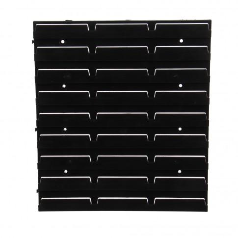 Sistem cu fixare pe perete, Patrol 350, negru, 350 x 385 x 20 mm