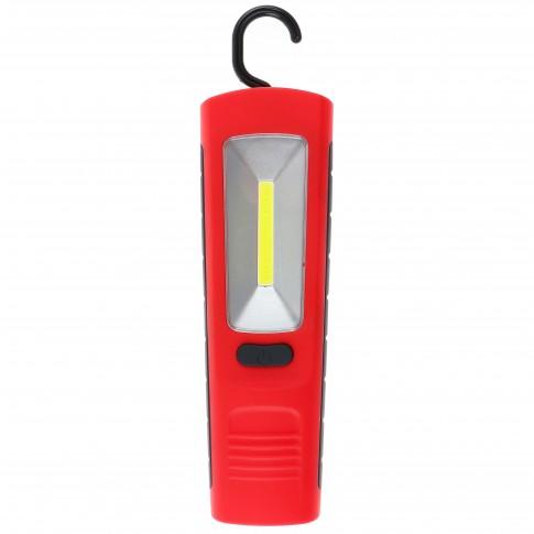Lampa de lucru LED COB Hoff, 3W, cu magnet, carlig, IP65, alimentare baterii