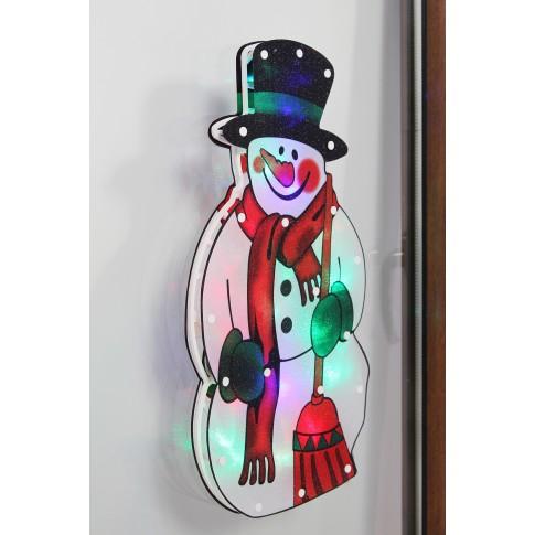 Decoratiune geam om de zapada cu 20 LED-uri, Hoff, alimentare baterii