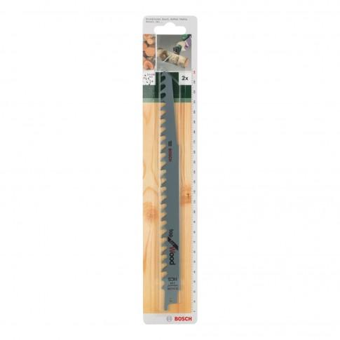 Panza fierastrau sabie, pentru lemn, Bosch Top for Wood, S 1542 K, 2609256703, set 2 bucati