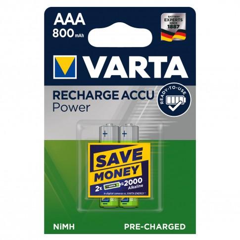 Acumulator Varta ACCU POWER 56703, AAA / HR03, 1.2V, 800 mAh, 2 buc