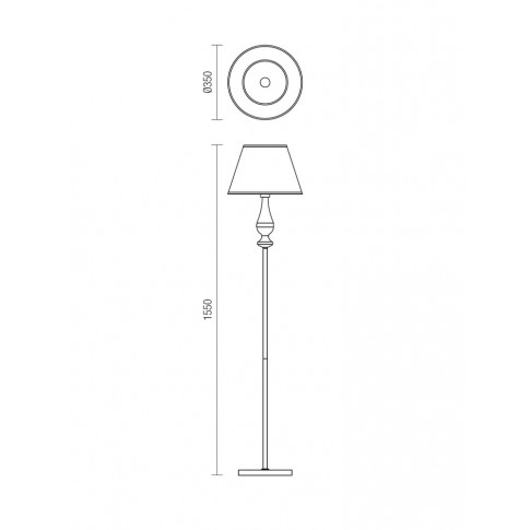 Lampadar Fabiola 02-714, 1 x E27, 1550 mm, alama antica + bej