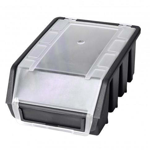 Cutie pentru depozitare, Patrol Ergobox 2 Plus, negru, 161 x 116 x 75 mm