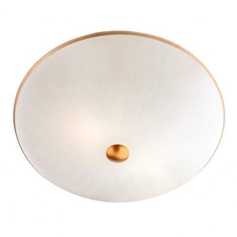 Plafoniera Sardinia 05-797, 2 x E27, alb + auriu