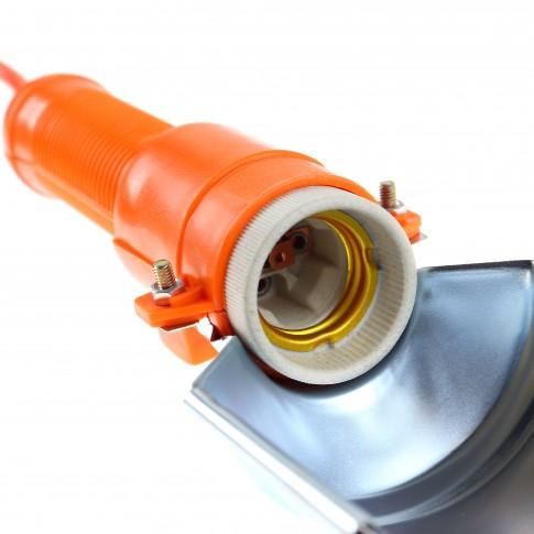 Lampa de lucru Hoff, portabila, dulie E27, cu intrerupator, carlig de agatare, 5 m cablu, alimentare 230V
