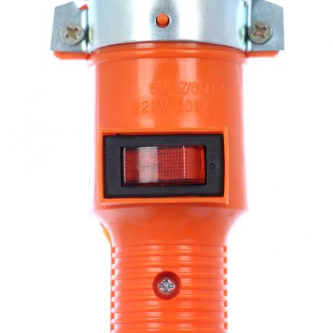 Lampa de lucru Hoff, portabila, dulie E27, cu intrerupator, carlig de agatare, 10 m cablu, alimentare 230V