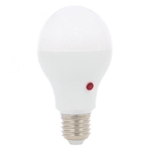 Bec LED Hoff clasic A65 E27 10W 900lm lumina rece 6500 K, cu fotocelula