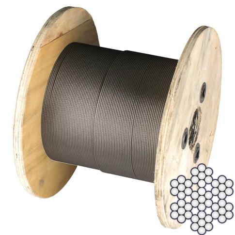 Cablu comercial, din otel inoxidabil, pentru  ancorari usoare, colac 10 m x 4 mm / bucata