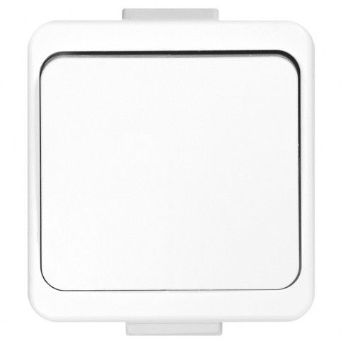 Intrerupator simplu Smart WNT-1S, aplicat, rama inclusa, alb