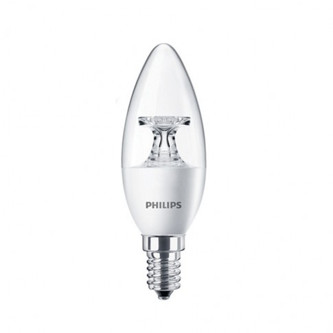 Bec LED Philips lumanare B35 E14 5.5W 470lm lumina calda 2700 K