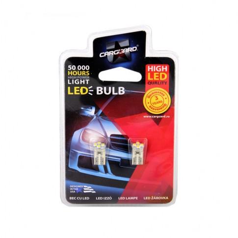 Bec LED SMD de pozitie Carguard CLD009, T10, 0.4 W, 12V, set 2 bucati