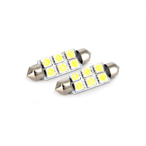 Bec LED SMD Sofit Carguard CLD017, 1.5 W, 12V, set 2 bucati
