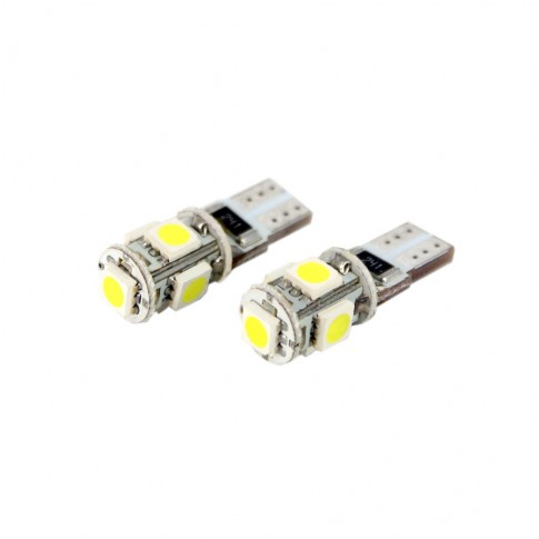 Bec LED SMD de pozitie Canbus Carguard CAN105, T10, 12 V, set 2 bucati