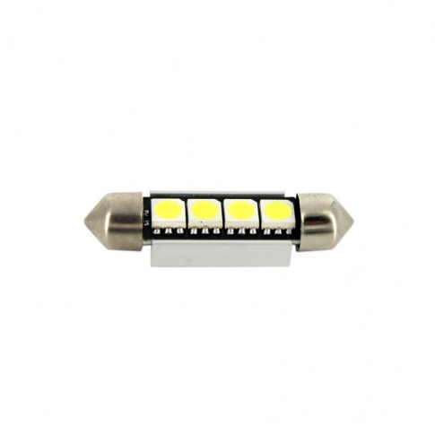 Bec LED SMD Sofit Canbus Carguard CAN108, T10, 3 W, 12V, set 2 bucati