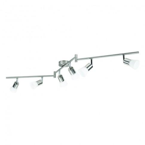 Plafoniera LED Decagon 50256/17/E, 6 x 4.3W, lumina calda, crom + alb
