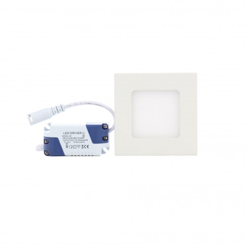 Spot LED incastrat Hoff, 3W, lumina neutra, 85 x 85 mm