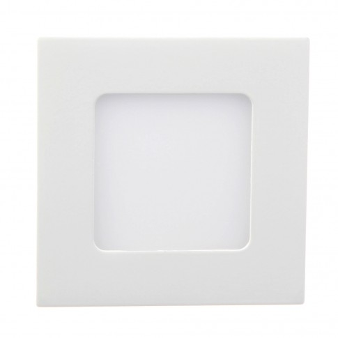 Spot LED incastrat Hoff, 2.4W, lumina neutra, 85 x 85 mm