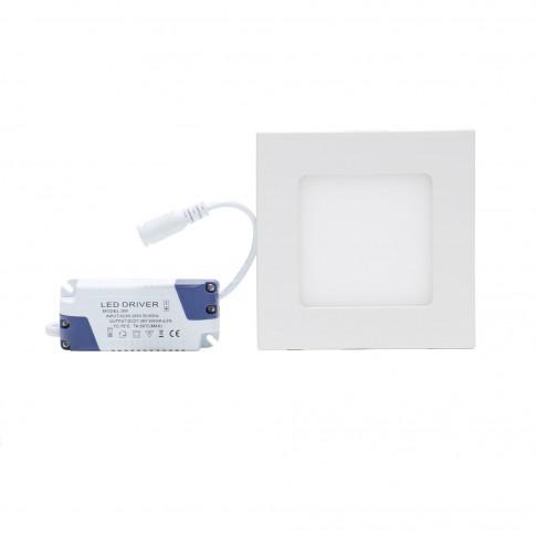 Spot LED incastrat Hoff, 9W, lumina neutra, 146 x 146 mm
