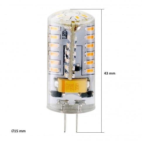 Bec LED Hepol mini G4 3W 200lm lumina calda 3000 K, 12V