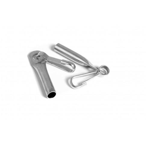 Capac cablu, cu carabina, 8 mm, set de 5 bucati