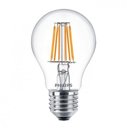 Bec LED filament Philips clasic A60 E27 7W 806lm lumina calda 2700 K