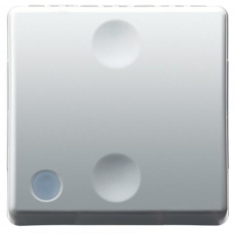 Intrerupator cap scara simplu, iluminabil, Gewiss System GW20589, incastrat, modular - 2, alb