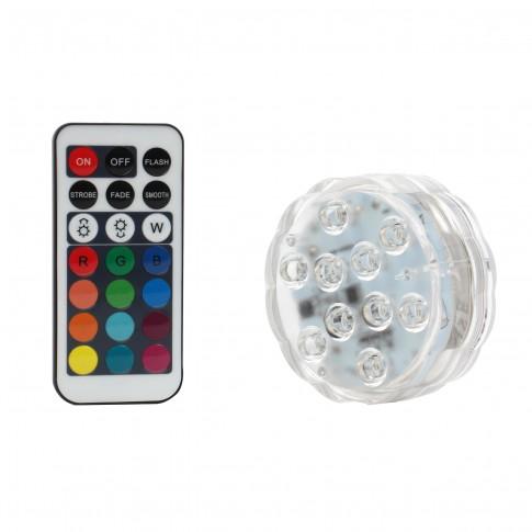 Lampa plutitoare, pentru piscina, 10 LED RGB, Hoff, cu telecomanda
