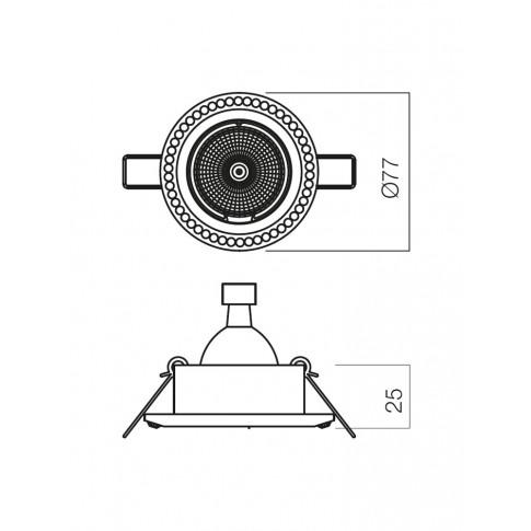 Spot incastrat CR 37 70345, GU5.3, alb mat