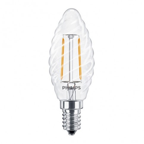 Bec LED Philips lumanare ST35 E14 2W 250lm lumina calda 2700 K, cu filament