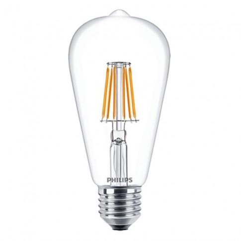 Bec LED filament Philips clasic ST64 E27 7W 806lm lumina calda 2700 K