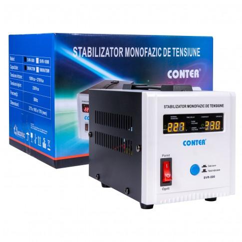 Stabilizator de tensiune cu releu Conter AVR SVR 500VA / 375W