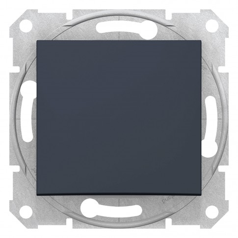 Intrerupator cap scara simplu Sedna SDN0400470, incastrat, grafit