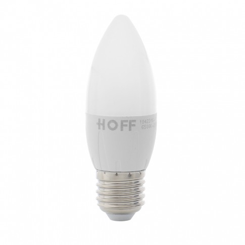 Bec LED Hoff lumanare E27 6W 540lm lumina rece 7000 K