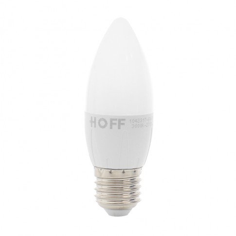 Bec LED Hoff lumanare E27 6W 540lm lumina calda 3000 K