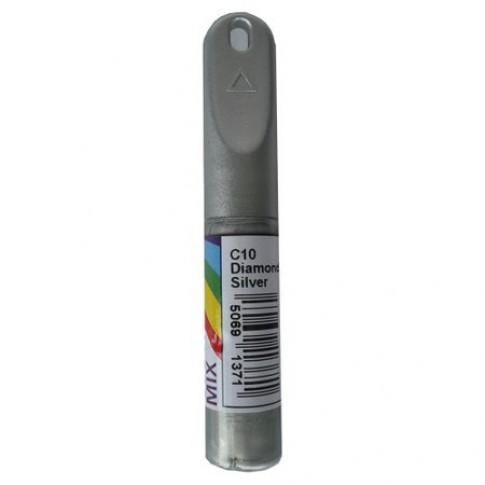 Corector auto Colormix Stift Diamond Silver, pentru intretinere caroserie, argintiu, 12 g