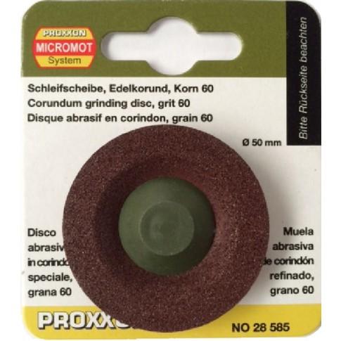 Disc frontal, din corindon, pentru slefuire metale feroase / neferoase, 50 mm, granulatie 60